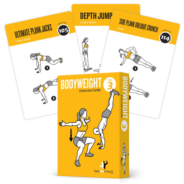 "Bodyweight Exercise Cards Vol 3- Plastic - 3.5""x 5.5"""