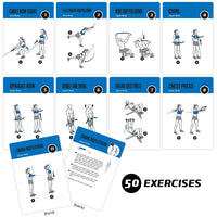 "Cable Exercise Cards - Plastic - 3.5""x 5.5"""