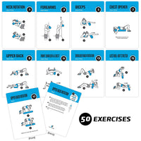"Foam Roller Exercise Cards - Plastic - 3.5""x 5.5"""