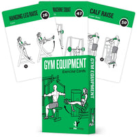 "Gym Machine Exercise Cards - Plastic - 3.5""x 5.5"""