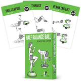 "Half Balance Ball Exercise Cards - Plastic - 3.5""x 5.5"""
