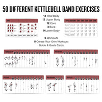 "3-Pack Exercises Cards Barbell, Dumbbell, Kettlebell Plastic - 3.5""x5.5"""