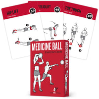 "Medicine Ball Exercise Cards - Plastic - 3.5""x 5.5"""