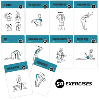"Stretching Exercise Cards - Plastic - 3.5""x5.5"""