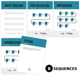"Stretching Exercise Cards - Plastic - 3.5""x 5.5"""