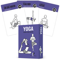 "Yoga Exercise Cards - Plastic - 3.5""x 5.5"""