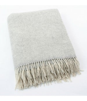 John Hanly Merino and Cashmere Blanket Throw 136 cm x 180 cm - Stuff & All Ltd