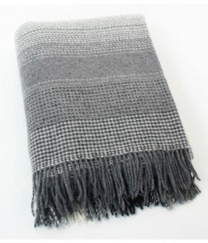 John Hanly Merino and Cashmere Blanket Throw - 136 cm x 180 cm - Stuff & All Ltd