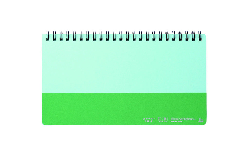 HiBi Weekly Notebook A5 11.8x21x1 cm Green - Stuff & All Ltd