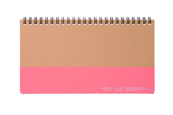 HiBi Weekly Notebook A5 11.8x21x1 cm Orange - Stuff & All Ltd