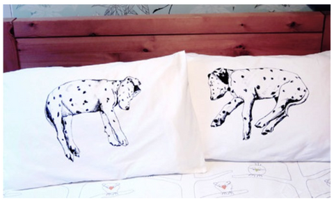 Dog Napper Cotton Eco Friendly Pillowcases - Stuff & All Ltd