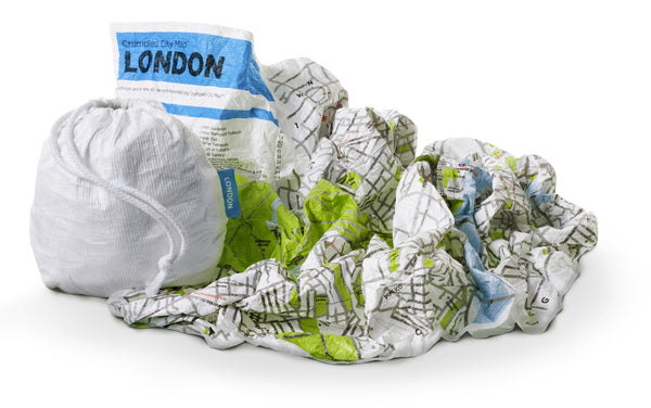London Waterproof Light Super Resistant Crumpled City Map - Stuff & All Ltd