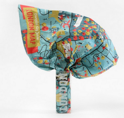 Junior London Waterproof Light Super Resistant Crumpled City Map - Stuff & All Ltd