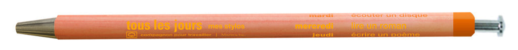 Days Ballpoint Pen Orange - Stuff & All Ltd