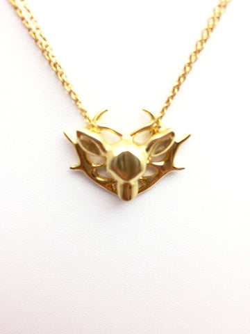 Phoebe 18 Carat Gold 'Sacred Heart' Deer Necklace - Stuff & All Ltd