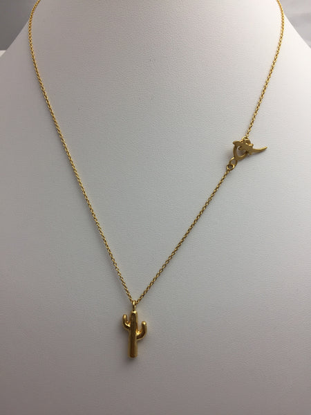 Phoebe Gold 18 Carat Cactus Pendant - Stuff & All Ltd