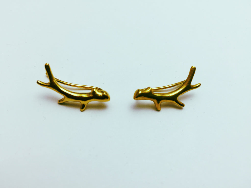 Phoebe Antler Stag Earrings - Stuff & All Ltd
