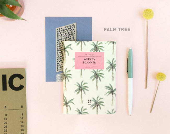 Iconic Weekly Planner Palm Tree - Stuff & All Ltd
