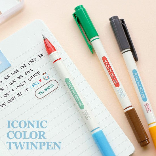 Iconic Colour Twin Pen - Stuff & All Ltd