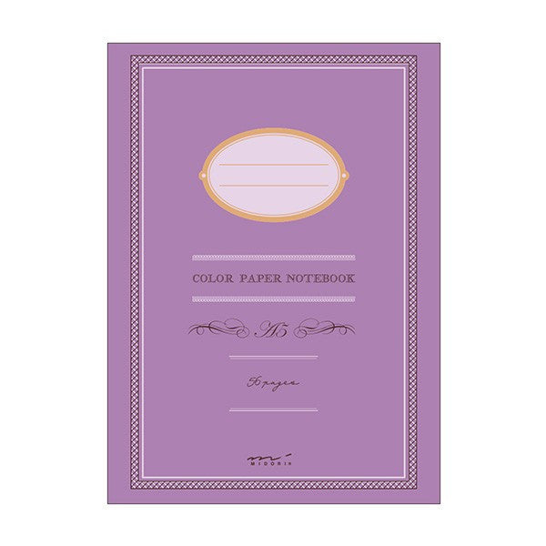 Midori Colour Paper Notebook A5 Purple - Stuff & All Ltd