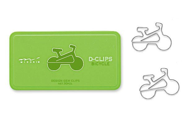 Midori D-Clips Bicycle - Box of 30 - Stuff & All Ltd