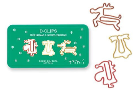 Midori D-Clip Christmas Edition - Box of 15 - Stuff & All Ltd