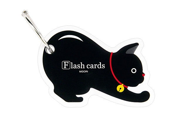 Midori Flash Cards Cat - - Stuff & All Ltd