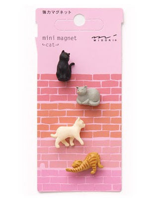 Midori Mini Magnet Cat - Stuff & All Ltd