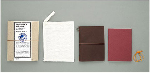 Midori Traveler's Passport Notebook Brown - Stuff & All Ltd