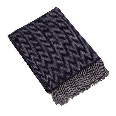John Hanly Cashmere Navy Blanket Throw 136cm x 180cm - Stuff & All Ltd