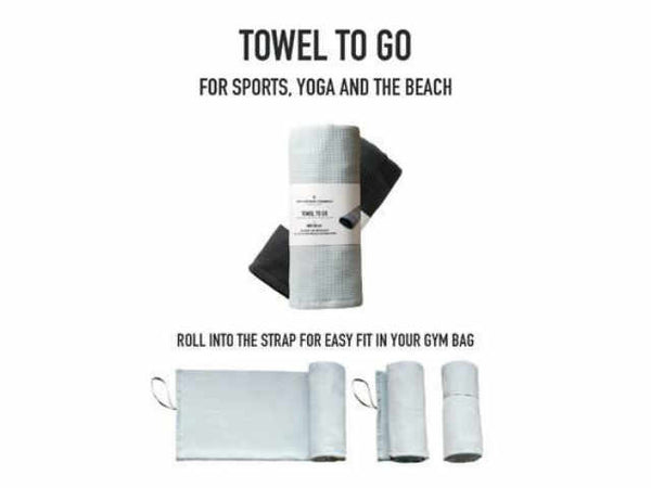 The Organic Company Towel To Go - Sports, Yoga and Beach - Stuff & All Ltd