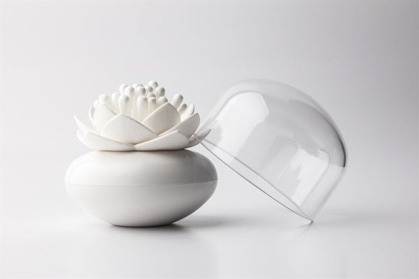 Qualy Lotus Cotton Bud Holder - Stuff & All Ltd
