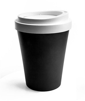 Qualy Black Bin Coffee Cup - Stuff & All Ltd