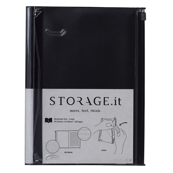 Storage.it Notebook A5 Black Or White - Stuff & All Ltd