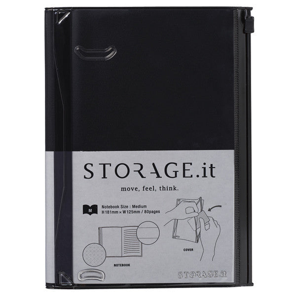 Storage.it Notebook A6 Black Or White - Stuff & All Ltd