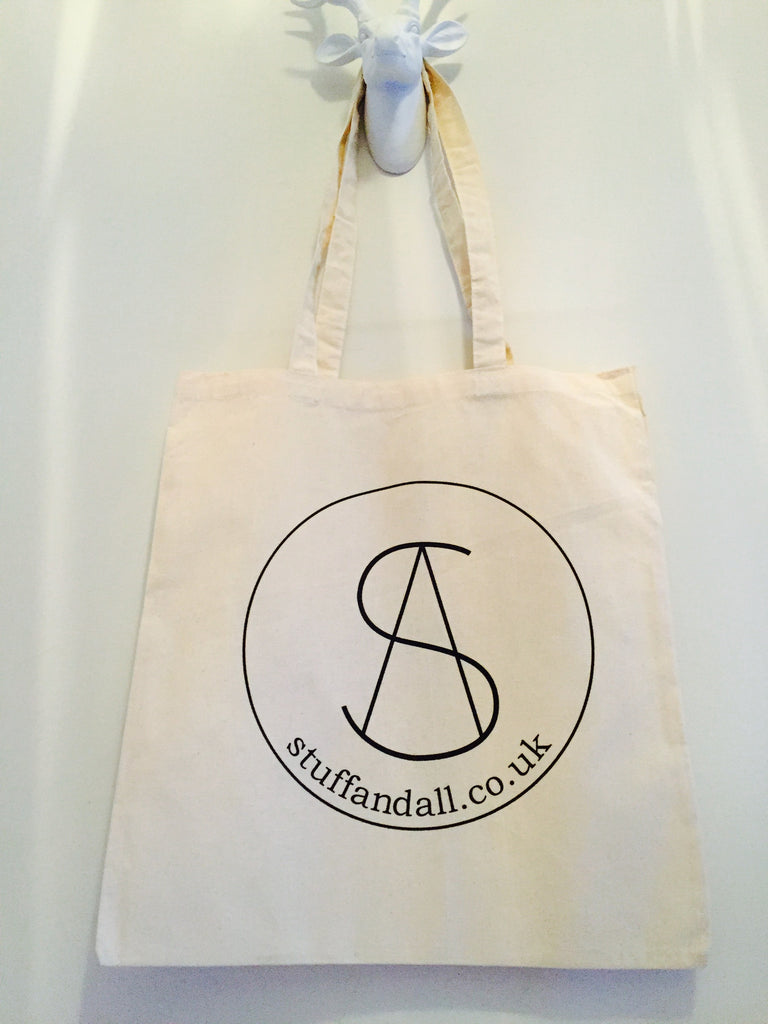 Stuff & All 120gms Organic Shopper Tote Bags - Double Sided Print - Stuff & All Ltd