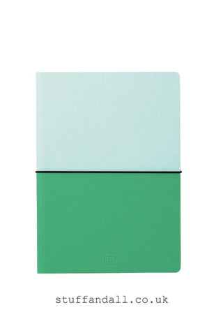 HiBi A5 Notebook H210xW148xD10mm Green - Stuff & All Ltd