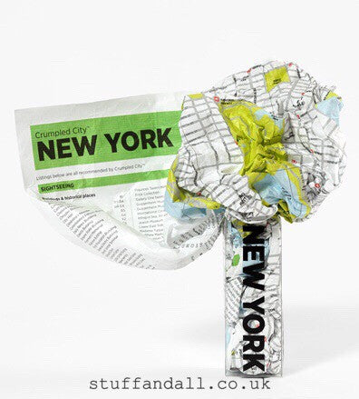 New York Waterproof Light Super Resistant Crumpled City Map - Stuff & All Ltd