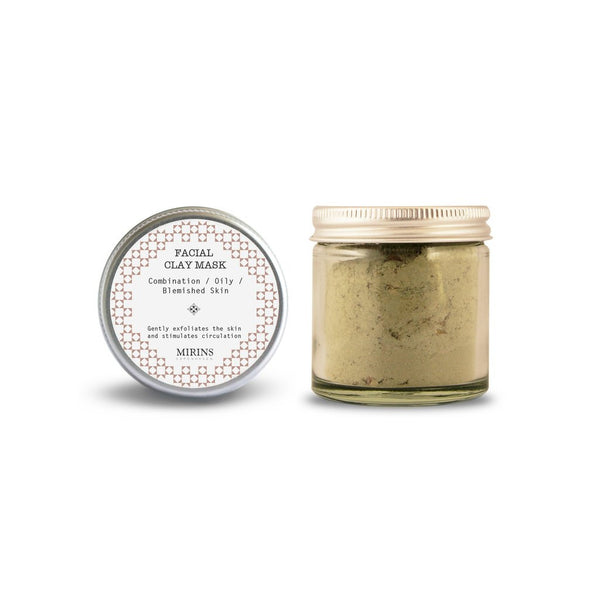 Mirins Facial Clay Mask - Combination/Oil/Blemished Skin - Stuff & All Ltd