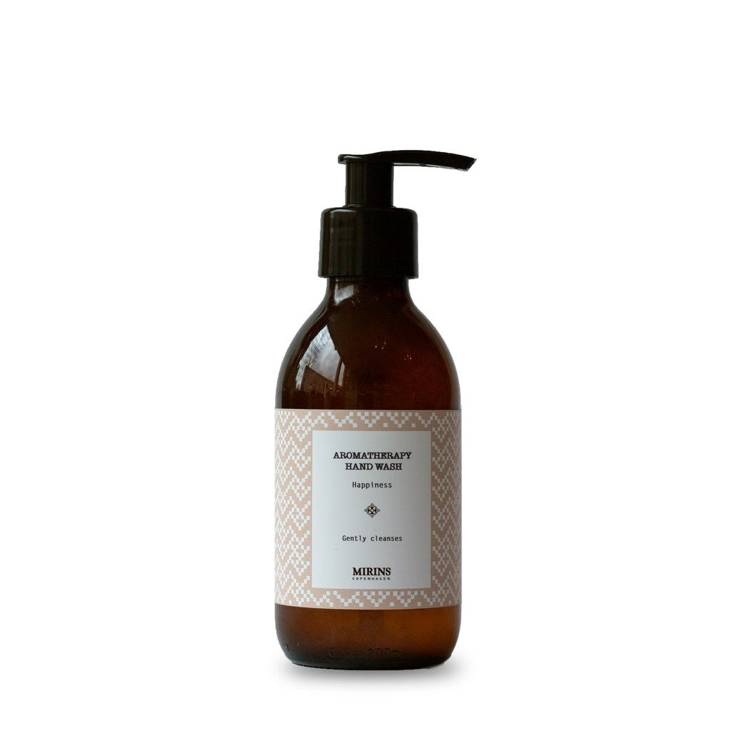 Mirins Hand Wash - Happiness - Rose Geranium, Orange & Mint, with pump - Stuff & All Ltd
