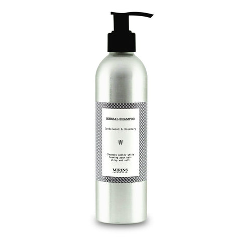 Mirins Shampoo - Sandalwood & Rosemary, with pump - Stuff & All Ltd