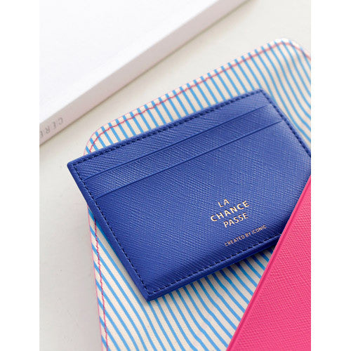 Iconic Flat Card Pocket Blue - Stuff & All Ltd