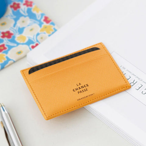 Iconic Flat Card Pocket Mustard - Stuff & All Ltd