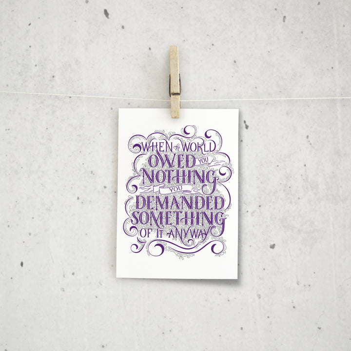 Nothing Owed Mini Print