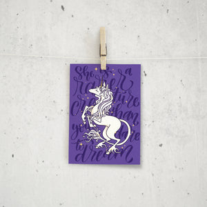 The Last Unicorn Mini Print