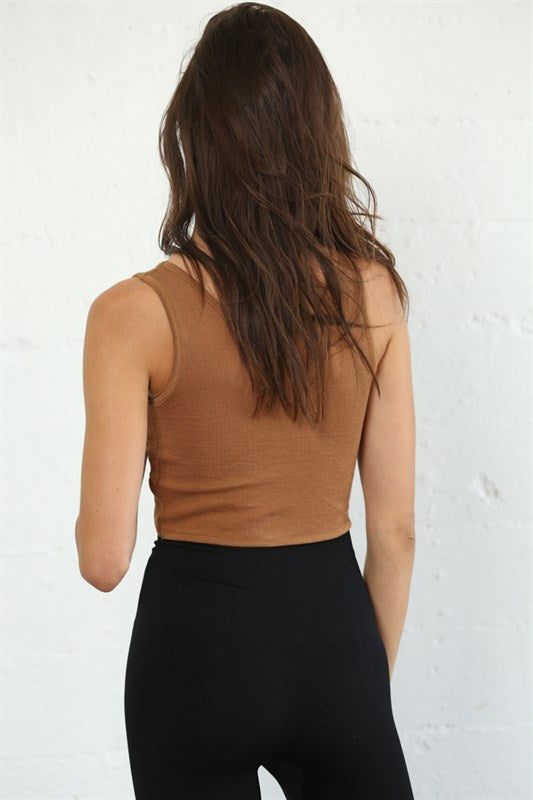 Twist It Up Reversible Brami in Brown