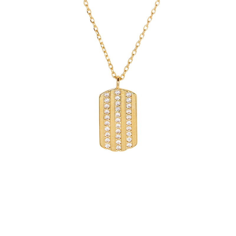Dog Tag Necklace in Gold