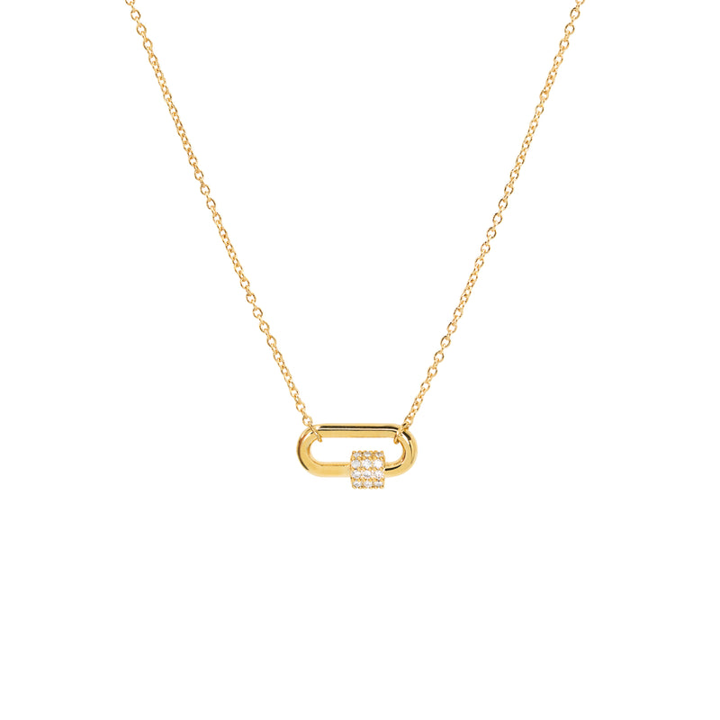 Carabiner Necklace in Gold