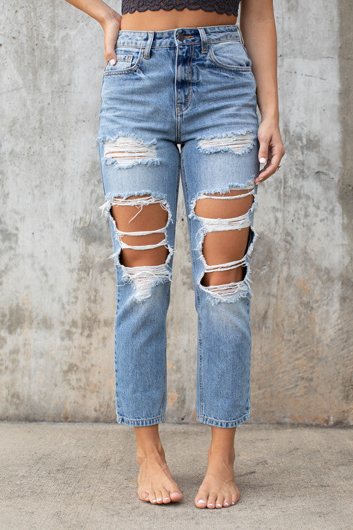 In Your Direction Jeans in Light Denim