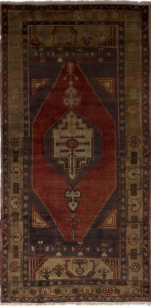 "+ Salmeh+  Turkish rug, Antique style, Copper Rustic, Handmade Wool Rug, 4'3"" x 8'9"""